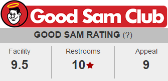 Bayfield Riverside RV Park Good Sam Club Rating